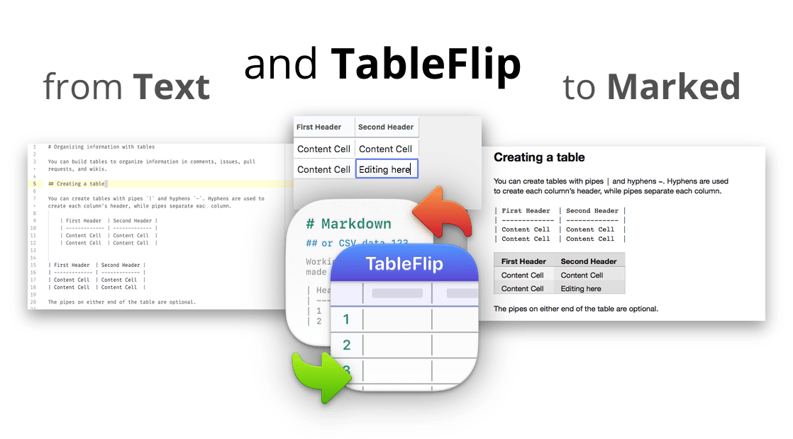 TableFlip - Simple Table Editor for Mac